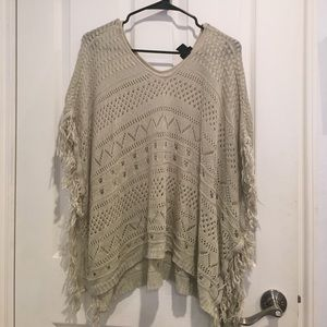 Poncho cover up/top